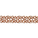 Patterned Strip - Copper - Blooming Heart - 6 inches