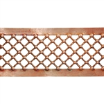 Patterned Wire - Copper - Beaded Crosshatch 16 gauge Dead Soft - 6""