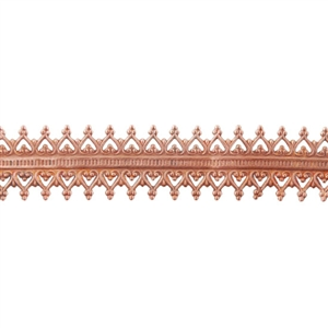 Patterned Strip - Copper - Double Gallery #2 - 6 inches