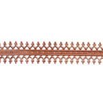 Patterned Wire - Copper - Double Gallery #1 24 gauge Dead Soft - 6""