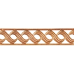 Patterned Strip - Copper - Triple S with Edging- 6 inches
