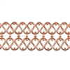 Patterned Strip - Copper - Double Serpentine - 6 inches