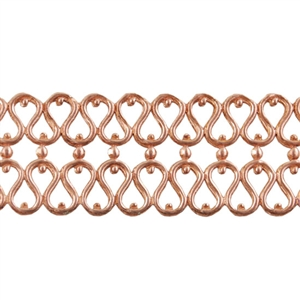 Patterned Wire - Copper - Double Serpentine 20 gauge Dead Soft - 6""