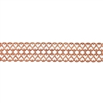 Patterned Strip - Copper - Double Serpentine Small - 6 inches