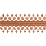 Patterned Strip - Copper - Double Beaded #2 - 6 inches
