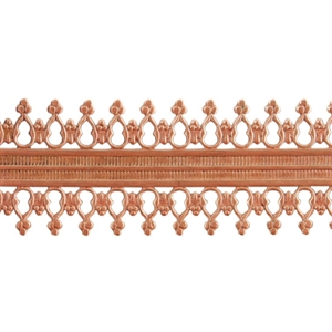 Patterned Wire - Copper - Double Beaded #2 22 gauge Dead Soft - 6""