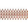 Patterned Strip - Copper - Double Beaded #1 - 6 inches