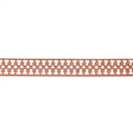 Patterned Strip - Copper - Double Crown with Edging - 6 inches
