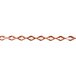 Patterned Strip - Copper - Diamonds - 6 inches