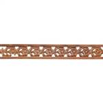 Patterned Strip - Copper - Edged Flower - 6 inches