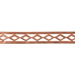 Patterned Wire - Copper - Edged Diamonds 24 gauge Dead Soft - 6""