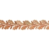 Patterned Strip - Copper - Leaves #3 - 6 inches