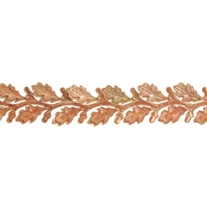 Patterned Wire - Copper - Leaves #3 22 gauge Dead Soft - 6""