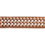Patterned Strip - Copper - Round Stud - 6 inches