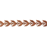 Patterned Strip - Copper - Leaves #5 - 6 inches