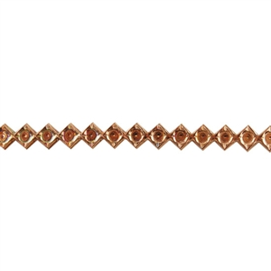 Patterned Wire - Copper - Dotted Diamond 16 gauge Dead Soft - 6""