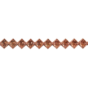 Patterned Wire - Copper - Jeweled Diamond 18 gauge Dead Soft - 6""