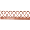 Patterned Strip - Copper - Serpentine with Edge - 6 inches