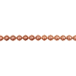 Patterned Wire - Copper - Flower #3 14 gauge - 6 inches