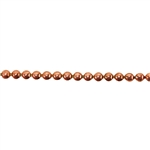 Patterned Wire - Copper - 3mm Polka Dot 14 gauge Dead Soft - 6""