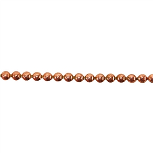Patterned Strip - Copper - 3mm Polka Dots 14 gauge - 6 inches