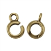 Bronze Plate Hook & Eye Clasp - Slip Lock Mini