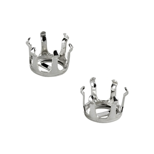 Sterling Silver Snap-Set Prong Setting - Round 8mm Pkg - 2