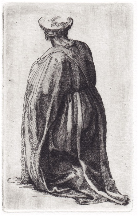 Kneeling Draped Figure