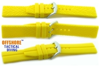 Offshore Tactical Diving Reversible Silicon Dive Strap Yellow  24mm,22mm,20mm