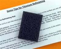 Brushed Titanium Refinishing Pad for Watches