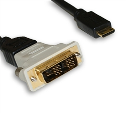 6' Mini-HDMI to DVI Cable