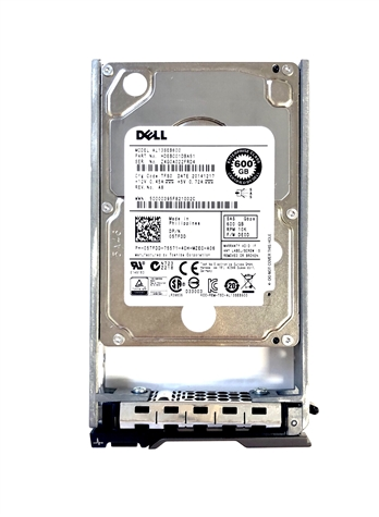 "03J10Y Original Dell 600GB 10000 RPM 2.5"" SAS hot-plug hard drive. Comes w/ drive and tray for your PE-Series PowerEdge Servers."