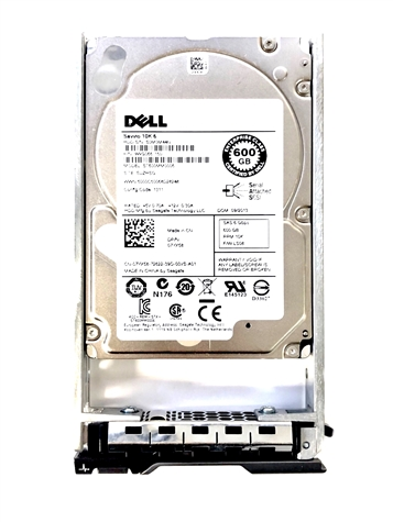 "07149N Original Dell 600GB 10000 RPM 2.5"" SAS hot-plug hard drive. Comes w/ drive and tray for your PE-Series PowerEdge Servers."