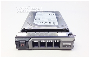 "400-20155 Original Dell 2TB 7200 RPM 3.5"" SAS hot-plug hard drive. (these are 3.5 inch drives) Comes w/ drive and tray for your PE-Series PowerEdge Servers."