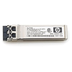 AJ716A - HP 8Gb Shortwave B-series Fibre Channel 1 Pack SFP+ Transceiver (1 pack). Pre-owned w/ 1 year warranty. Large quantities in stock, ship same day.