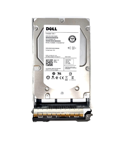"# D32VD 450GB 15000 RPM 3.5"" SAS hard drive."