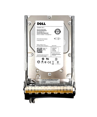 "PE450GB15K3.5-F9 Original Dell 450GB 15000 RPM 3.5"" SAS hot-plug hard drive. (these are 3.5 inch drives) Comes w/ drive and tray for your PE-Series PowerEdge Servers."