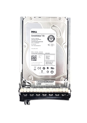 "T349H Original Dell 500GB 7200 RPM 3.5"" SAS hot-plug hard drive. (these are 3.5 inch drives) Comes w/ drive and tray for your PE-Series PowerEdge Servers."