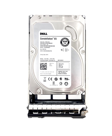 "U717K Original Dell 500GB 7200 RPM 3.5"" SAS hot-plug hard drive. (these are 3.5 inch drives) Comes w/ drive and tray for your PE-Series PowerEdge Servers."