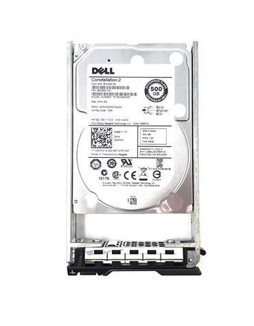 "X7KF7 Original Dell 500GB 7200 RPM 2.5"" SAS hot-plug hard drive. Comes w/ drive and tray for your PE-Series PowerEdge Servers."