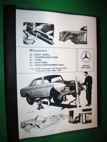 mercedes benz body repair manual for 1959 67 models Mercedes-Benz W120 Mercedes-Benz W116
