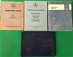 Four Volume Owners / Workshop & Service Manual set for Mercedes 190SL and 105, 120, 128Ch. Models - all orig