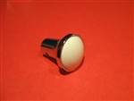 Mercedes Radio Knob - 190SL Type - Chrome with Ivory color Insert