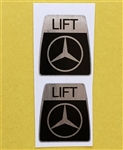 Kangol Seat Belt Decal set for Mercedes 230SL 250SL 280SL & others