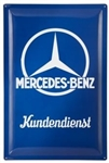 "Mercedes-Benz Tin-Plate Workshop Wall Sign ""Mercedes-Benz Kundendienst"""