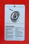 Spare Tire / Wheel Change Instruction Tag - for 230SL 250SL 280SL