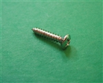 CHROME PLATED OVAL HEAD SHEET METAL SCREW - DIN 7983 - 2.9 x 16