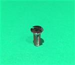 CHROME PLATED OVAL HEAD SLOTTED MACHINESCREW - DIN 91 -M6 x 16