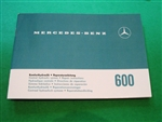 Mercedes 600 - 100Ch. Hydraulic System Repair Booklet