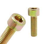 Socket Head Cap Screw M6x15  DIN 912 - Yellow Zinc Plated